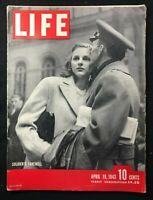 LIFE MAGAZINE - Apr 1943 - SOLDIERS FAREWELL / Cecil Beaton / Esther Williams
