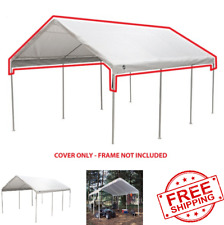 New King Canopy Carport, Garage Roof Top Replacement Cover For Shelter 12' x 20'
