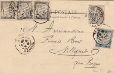 Lettre France Timbre Taxe + Blanc Gare de Troyes Aube Cover Brief