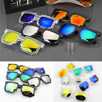 Unisex Retro Trendy Pixel 8 Bit Glasses Pixelated Style Square Party Sunglasses
