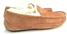 Ugg Men's Ascot Chestnut Slippers Water-Resistant Suede and Natural Wool Lining