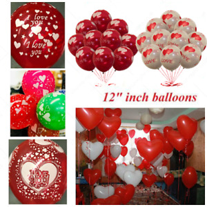 """10""""-12"""" Valentines day Balloons Heart I Love You Print Baloons valentine gift"""