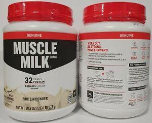 Muscle Milk Genuine Vanilla Crème Protein Powder 1.93 lbs Qty 2 Exp 09/2022
