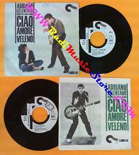 LP 45 7'' ADRIANO CELENTANO Ciao amore Veleno 1962 PROMO CARAMBA no cd mc vhs