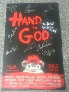 Hand Of God Signed Autographed Broadway Theatre Poster Windowcard