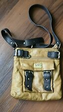D&G Dolce & Gabbana camel brown faux leather purse shoulder