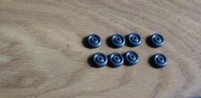 """MANOIL  BARCLAY HUBLEY ETC.  8  1/2"""" BLACK RUBBER TIRES 1/16"""" AXLE HOLE"""
