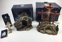 Fontanini Resurrection Scene, Crucifixion Scene & Risen Christ Figure Lot
