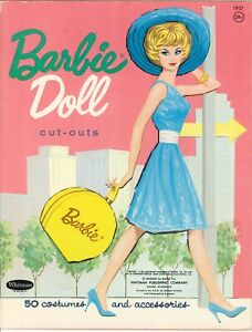 VINTGE UNCUT 1960s BARBIE PAPER DOLL HD LASER REPRODUCTION~PRETTY LO PR FREE SH