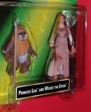 Star Wars  PRINCESS LEIA COLLECTION and Wicket the Ewok action figure 2 PACK