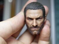"1:6 Wolverine Hugh Jackman Head Sculpt Model Carved F/12"" Male Action Body Model"
