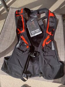 Nike Trail Running Kiger Unisex Hydration Vest Black/ Orange  Large