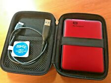 WD My Passport 1TB Western Digital Portable External Hard Drive Red with Case