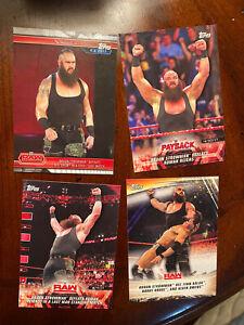 Braun Strowman lot of 4 cards - WWE 🔥🔥🔥