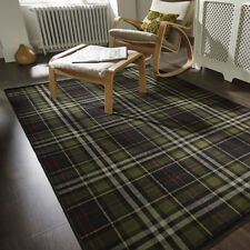 Glen Kilry Black - 80 X 150 Cm Classic Tartan Check Small Large Easy Care Rug
