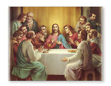 LARGE CANVAS THE LAST SUPPER JESUS AND DISCIPLES CANDLES STATUES PICTURES LISTED