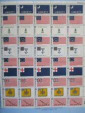 Historic  America  Flags Sheet   #1345-1354