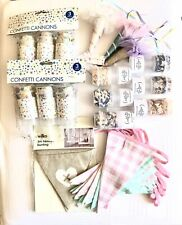 Wedding Party BBQ Celebration Unicorn Hats Confetti Poppers Cannons Bunting