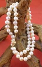 Farbenfrohe Perlenkette mit 585 Gelbgold