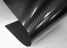 "NEW REAL CARBON FIBER Sheet 6"" x 24"" with 3M Adhesive Cars Corvette FREE S&H"
