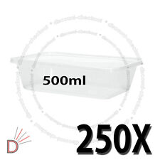 250 SQUARE FOOD CONTAINERS PLASTIC STORAGE BOX FOR SPICES NUT 500ml 178x125x40mm