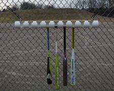 Portable Baseball/Softball/Teeball Dugout Fence Bat Rack (White)