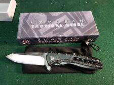 "Komoran KO016 Satin Finish Assisted Folding Knife W/4"" Drop Point Blade Folder"