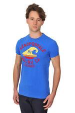 Aeropostale Camiseta Hombre S Azul algodón  Logo
