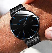 Nuevo Reloj para Mujeres Geneva de Lujo para Hombre de Cuarzo Analógico Acero Inoxidable Relojes de pulsera