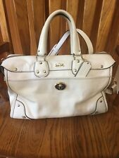 Beautiful authentic Coach white leather handbag