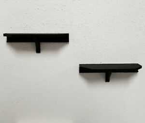 Two 6in x 2in Small Black Wall Shelves use 3M Command Strips for Easy Mounting
