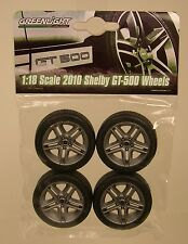 GREENLIGHT 1:18 SCALE PLASTIC AND RUBBER 2010 SHELBY GT500 WHEEL & TIRE SET