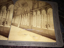 Vintage Stereoscope Card Twisted Roman Columns in St. Peters  Rome