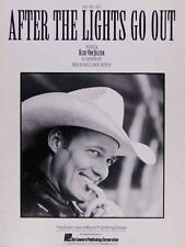 AFTER THE LIGHTS GO OUT Sheet Music RICKY VAN SHELTON Walter McPherson COUNTRY