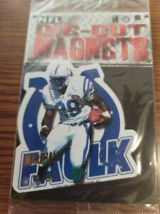 Lot of 80 Marshall Faulk Colts NFL FOOTBALL 1996 die cut MAGNETS NEW SEALED