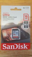 NEW SanDisk 16GB Ultra SDHC SD Card Class 10 UHS-I Memory Card 80MB/S For Camera