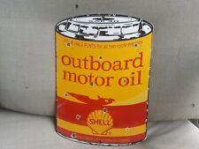 Vintage Outboard Motor Oil Shell Porcelain Sign