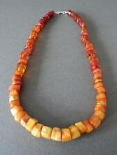 Vintage Natural Baltic Butterscotch Egg Yolk Honey Amber Beads Necklace Unique