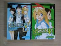 Nisekoi 1-2, Lot of 2 Shonen Manga, English, 13+, Naoshi Komi