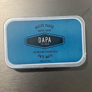 A$28 DAPA Matte paste Volumizing Strong Hold 3.4oz  Made & Sold in Australia!