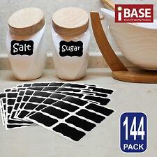 144x Chalkboard Blackboard Chalk Board Stickers Labels Craft Jar Kitchen Party