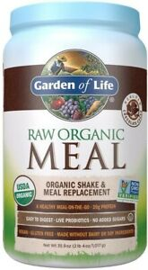 Garden of Life Meal Replacement Chocolate Powder, 28 Servings, Organic Raw Plant