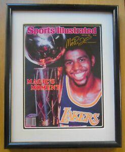 Magic Johnson auto 1980 Larkers Sports Illustrated cover framed COA UD NIB