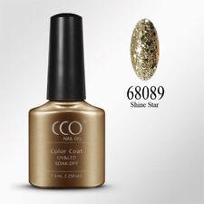 CCO UV/LED Gel Nail Polish. Shine Star Chunky Gold Glitter Nail Gel Polish