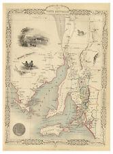South Australia Spencer Gulf Adelaide illustrated map Tallis ca.1851