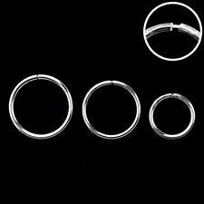 1 Seamless Silver Hoop Ring 18g Nose Tragus Lip Ear - Choose 6mm 8mm 10mm #BK