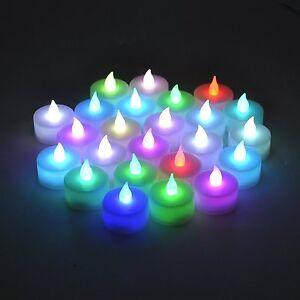 Color Changing Flameless LED Tealight  Candles Tea Light Candle C24pcs