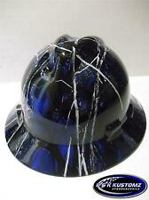 NEW Custom MSA V GARD Hydro Dipped Full Brim Hard Hat (Blue Harvest Moon)