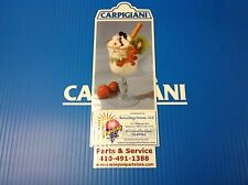 Carpigiani Parts Coldelite Whipped Cream Machine Kw-50 & Kw-77 Front Decal