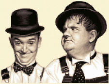LAUREL & HARDY ~ complete counted cross stitch kit